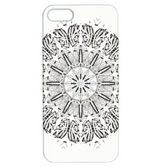 Art Coloring Flower Page Book Apple Iphone 5 Hardshell Case With Stand