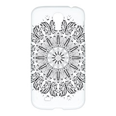 Art Coloring Flower Page Book Samsung Galaxy S4 I9500/I9505 Hardshell Case