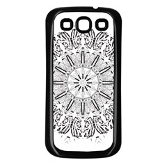 Art Coloring Flower Page Book Samsung Galaxy S3 Back Case (black)