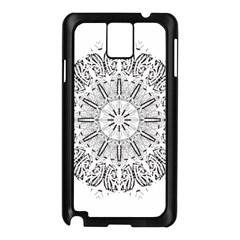 Art Coloring Flower Page Book Samsung Galaxy Note 3 N9005 Case (Black)
