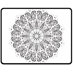 Art Coloring Flower Page Book Double Sided Fleece Blanket (medium)