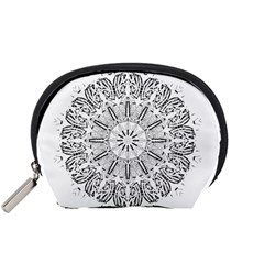 Art Coloring Flower Page Book Accessory Pouches (small)