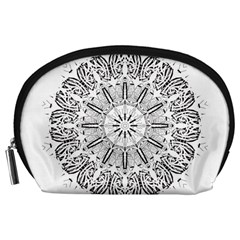 Art Coloring Flower Page Book Accessory Pouches (large)