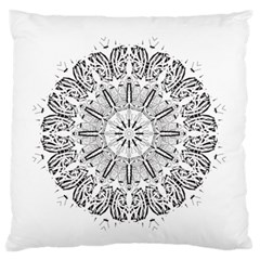 Art Coloring Flower Page Book Large Flano Cushion Case (one Side)