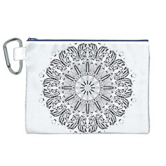 Art Coloring Flower Page Book Canvas Cosmetic Bag (xl)