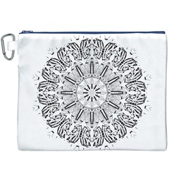 Art Coloring Flower Page Book Canvas Cosmetic Bag (XXXL)