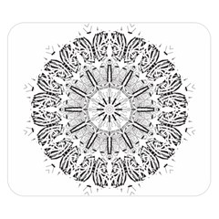 Art Coloring Flower Page Book Double Sided Flano Blanket (small)