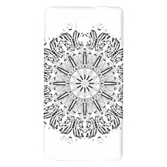 Art Coloring Flower Page Book Galaxy Note 4 Back Case