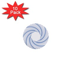 Spirograph Spiral Pattern Geometric 1  Mini Buttons (10 Pack)