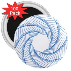 Spirograph Spiral Pattern Geometric 3  Magnets (100 Pack)