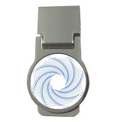 Spirograph Spiral Pattern Geometric Money Clips (round)