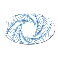 Spirograph Spiral Pattern Geometric Oval Magnet