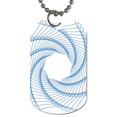 Spirograph Spiral Pattern Geometric Dog Tag (Two Sides)