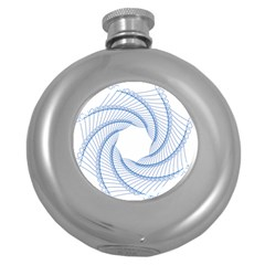 Spirograph Spiral Pattern Geometric Round Hip Flask (5 oz)