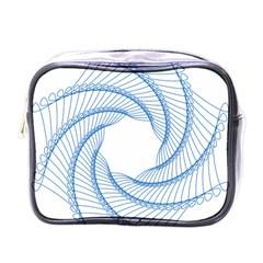 Spirograph Spiral Pattern Geometric Mini Toiletries Bags