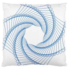 Spirograph Spiral Pattern Geometric Large Cushion Case (one Side)