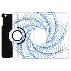 Spirograph Spiral Pattern Geometric Apple iPad Mini Flip 360 Case