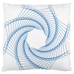 Spirograph Spiral Pattern Geometric Large Flano Cushion Case (One Side)