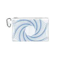 Spirograph Spiral Pattern Geometric Canvas Cosmetic Bag (S)