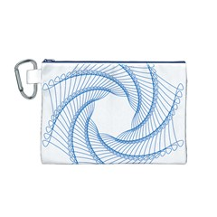 Spirograph Spiral Pattern Geometric Canvas Cosmetic Bag (M)