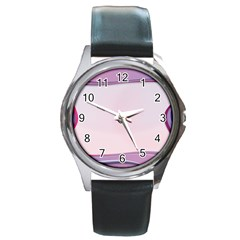 Background Image Greeting Card Heart Round Metal Watch