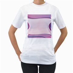 Background Image Greeting Card Heart Women s T Shirt (white) (two Sided)