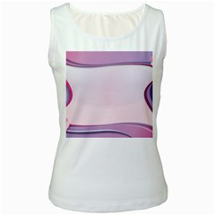 Background Image Greeting Card Heart Women s White Tank Top