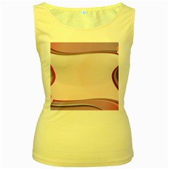 Background Image Greeting Card Heart Women s Yellow Tank Top