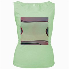 Background Image Greeting Card Heart Women s Green Tank Top