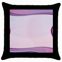Background Image Greeting Card Heart Throw Pillow Case (black)