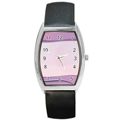 Background Image Greeting Card Heart Barrel Style Metal Watch