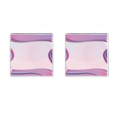 Background Image Greeting Card Heart Cufflinks (Square)
