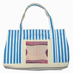 Background Image Greeting Card Heart Striped Blue Tote Bag
