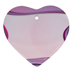 Background Image Greeting Card Heart Heart Ornament (two Sides)