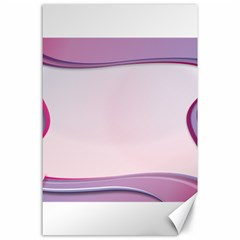 Background Image Greeting Card Heart Canvas 24  x 36