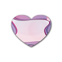 Background Image Greeting Card Heart Rubber Coaster (Heart)
