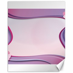 Background Image Greeting Card Heart Canvas 11  x 14