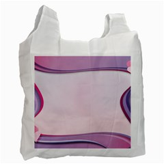 Background Image Greeting Card Heart Recycle Bag (Two Side)