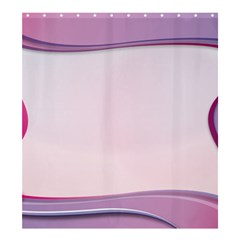 Background Image Greeting Card Heart Shower Curtain 66  x 72  (Large)