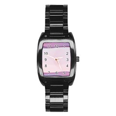 Background Image Greeting Card Heart Stainless Steel Barrel Watch