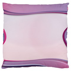 Background Image Greeting Card Heart Large Flano Cushion Case (two Sides)