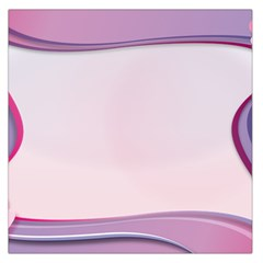 Background Image Greeting Card Heart Large Satin Scarf (square)