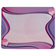 Background Image Greeting Card Heart Jigsaw Puzzle Photo Stand (Rectangular)