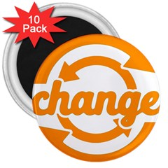 Think Switch Arrows Rethinking 3  Magnets (10 Pack)