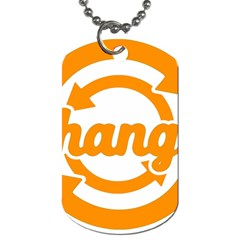 Think Switch Arrows Rethinking Dog Tag (Two Sides)