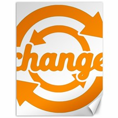 Think Switch Arrows Rethinking Canvas 36  x 48
