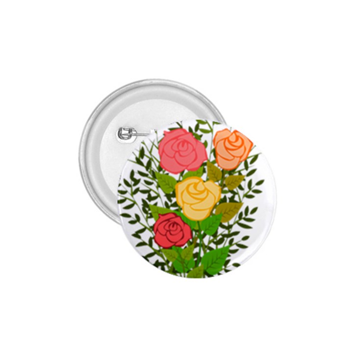 Roses Flowers Floral Flowery 1.75  Buttons