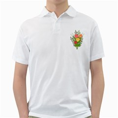 Roses Flowers Floral Flowery Golf Shirts