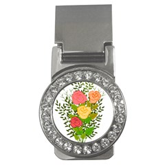 Roses Flowers Floral Flowery Money Clips (cz)