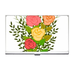 Roses Flowers Floral Flowery Business Card Holders